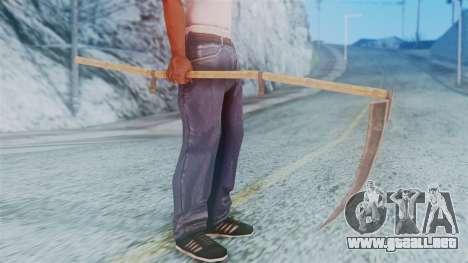 Red Dead Redemption Scythe para GTA San Andreas tercera pantalla