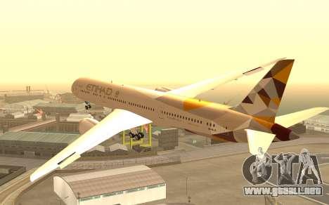 Boeing 787-9 Etihad Airways para GTA San Andreas left