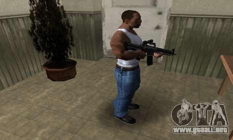 Full Black M4 para GTA San Andreas tercera pantalla