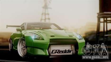 Nissan GT-R R35 Bensopra 2013 para GTA San Andreas vista hacia atrás