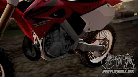 Honda CR125 para la visión correcta GTA San Andreas