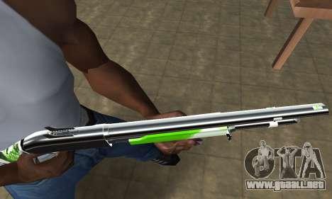 Green Lines Shotgun para GTA San Andreas segunda pantalla