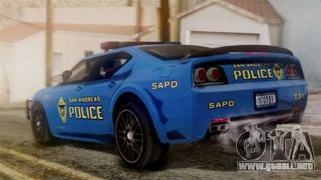 Hunter Citizen from Burnout Paradise SAPD para GTA San Andreas left