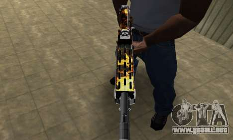 Brighty Yellow Combat Shotgun para GTA San Andreas