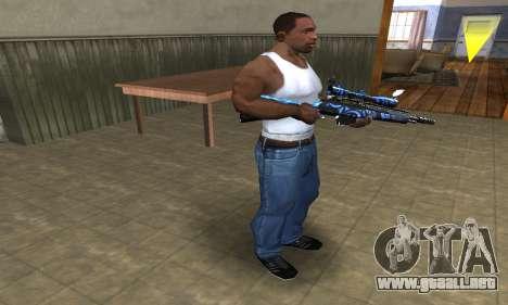 Blue Limers Sniper Rifle para GTA San Andreas tercera pantalla