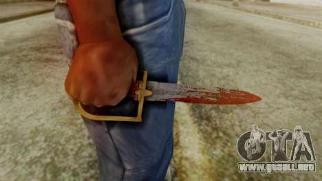 GTA 5 Antique Cavalry Dagger v2 para GTA San Andreas tercera pantalla
