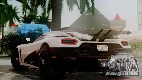 NFS Rivals Koenigsegg Agera R Racer para GTA San Andreas left