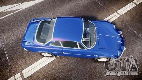 Renault Alpine A110 1973 para GTA 4 visión correcta