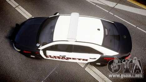 Ford Taurus 2010 Elizabeth Police [ELS] para GTA 4 visión correcta