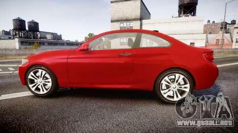 BMW M235i para GTA 4 left