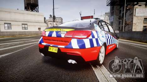 Holden VF Commodore SS Highway Patrol [ELS] para GTA 4 Vista posterior izquierda