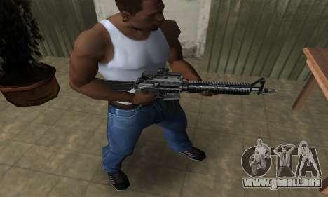 Full Black M4 para GTA San Andreas segunda pantalla