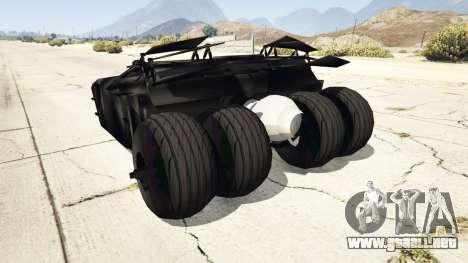 GTA 5 Batmobile v0.1 [alpha] vista lateral izquierda trasera