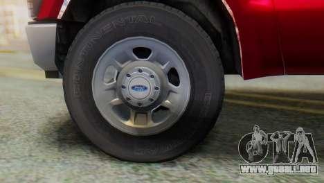 Ford F-350 Super Duty Regular Cab 2008 FIV АПП para la visión correcta GTA San Andreas