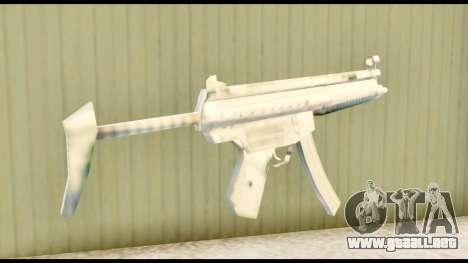 MP5 con de stock para GTA San Andreas segunda pantalla