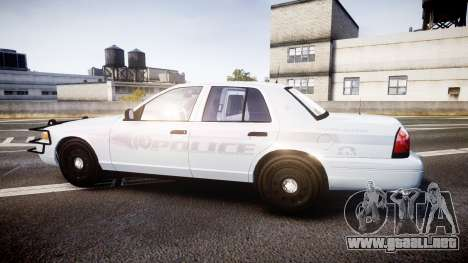 Ford Crown Victoria Bohan Police [ELS] unmarked para GTA 4 left