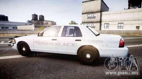 Ford Crown Victoria Bohan Police [ELS] unmarked para GTA 4 left