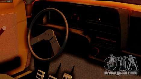 Fiat 147 Al Piso para la visión correcta GTA San Andreas