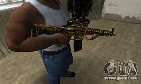 Yellow Jungle M4 para GTA San Andreas segunda pantalla