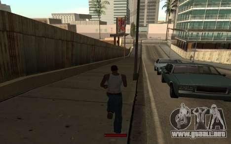 SprintBar para GTA San Andreas quinta pantalla