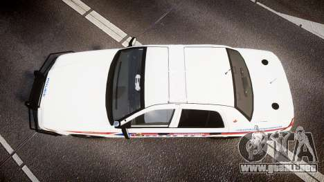 Ford Crown Victoria Bohan Police [ELS] WL para GTA 4 visión correcta