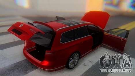 Volkswagen Passat Variant R-Line para la vista superior GTA San Andreas