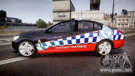 Holden VF Commodore SS Highway Patrol [ELS] para GTA 4 left