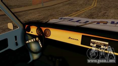Dacia 1100 Militia para la visión correcta GTA San Andreas
