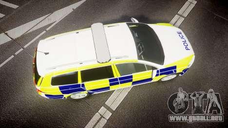 Volkswagen Passat B7 North West Police [ELS] para GTA 4 visión correcta