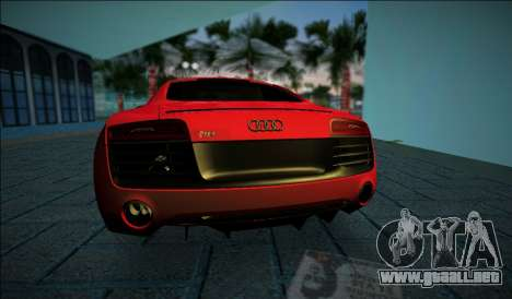Audi R8 V10 Plus 2014 para GTA Vice City vista lateral izquierdo