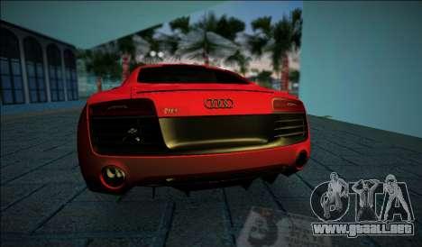 Audi R8 V10 Plus 2014 para GTA Vice City vista lateral izquierdo