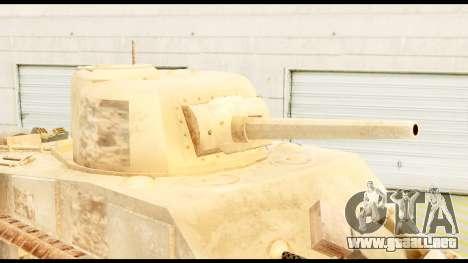 M4 Sherman 75mm Gun Desert para la visión correcta GTA San Andreas