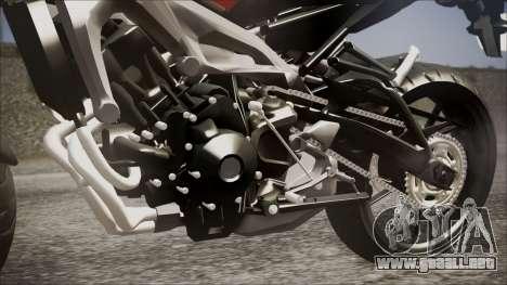 Yamaha MT-09 para GTA San Andreas vista hacia atrás