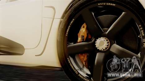 NFS Rivals Koenigsegg Agera R Racer para GTA San Andreas vista posterior izquierda