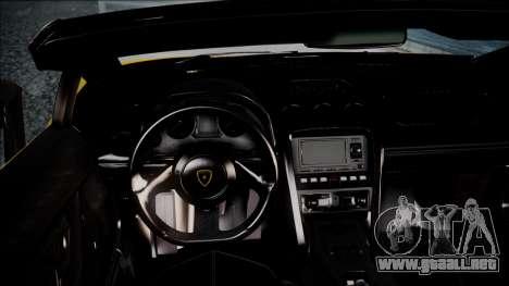 Lamborghini Gallardo LP570-4 Spyder 2012 para la visión correcta GTA San Andreas