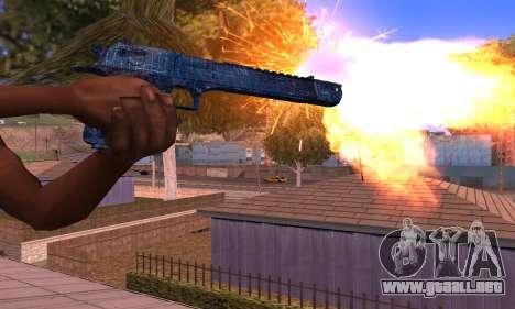 Deagle Blue para GTA San Andreas