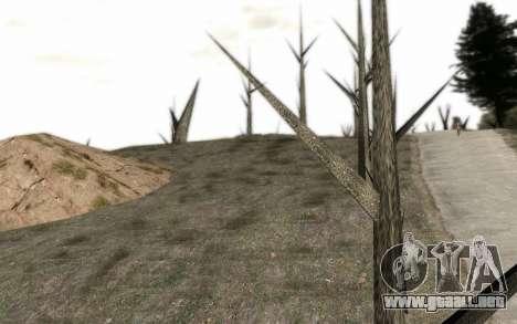Los árboles sin hojas para GTA San Andreas segunda pantalla