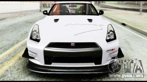 Nissan GT-R R35 2012 para vista lateral GTA San Andreas