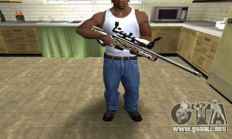 Gold Dragon Sniper Rifle para GTA San Andreas tercera pantalla