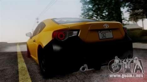 Toyota GT86 PJ para GTA San Andreas left