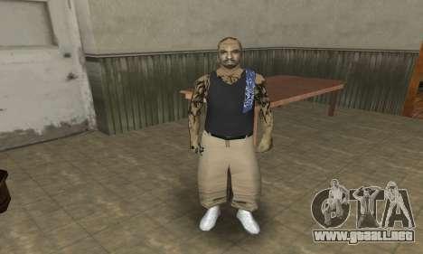 Rifa Skin Third para GTA San Andreas tercera pantalla