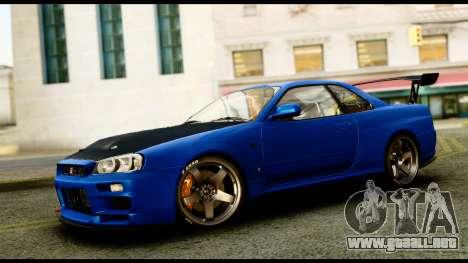 Nissan Skyline GT-R (BNR34) Tuned para GTA San Andreas