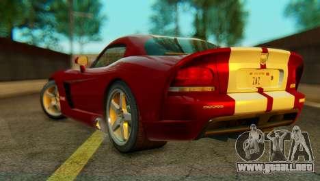 Dodge Viper SRT10 para GTA San Andreas left