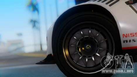 Nissan GT-R GT1 Sumo para GTA San Andreas vista posterior izquierda