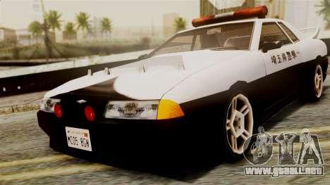 Elegy Saitama Prefectural Police para GTA San Andreas vista posterior izquierda