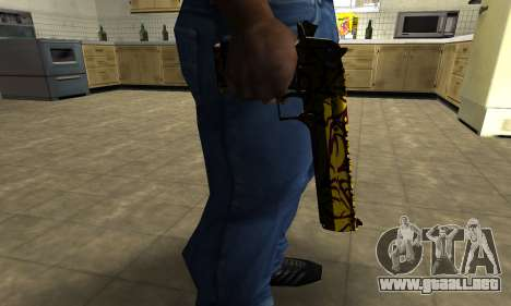 Yellow Jungle Deagle para GTA San Andreas