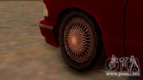 Premier Towtruck para GTA San Andreas vista posterior izquierda