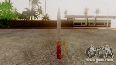 GTA 5 Antique Cavalry Dagger v1 para GTA San Andreas segunda pantalla