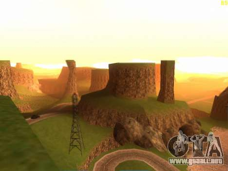 Verde del desierto de Las Venturas v2.0 para GTA San Andreas