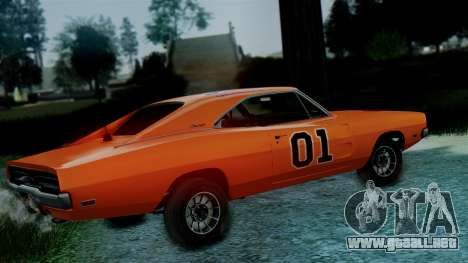 Dodge Charger General Lee para GTA San Andreas vista posterior izquierda